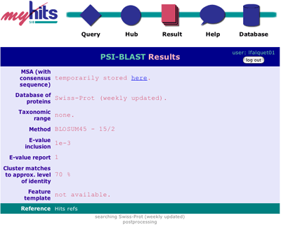 psiblast result page